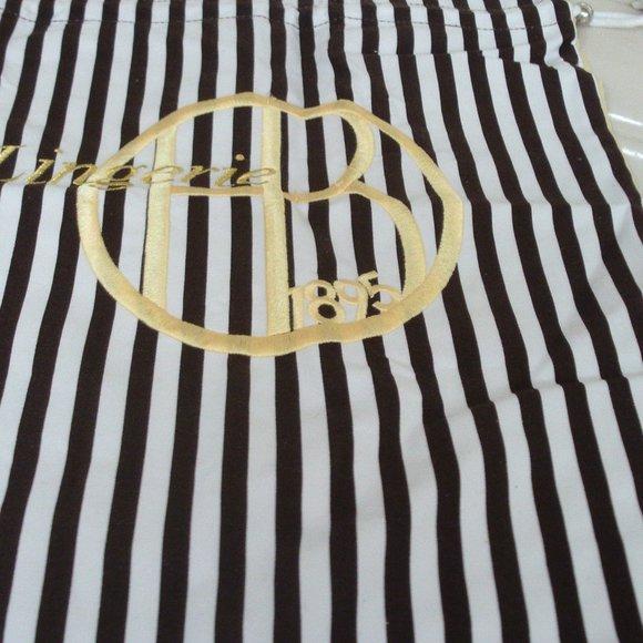 NWOT Henri Bendel Embroidered Lingerie Laundry Bag